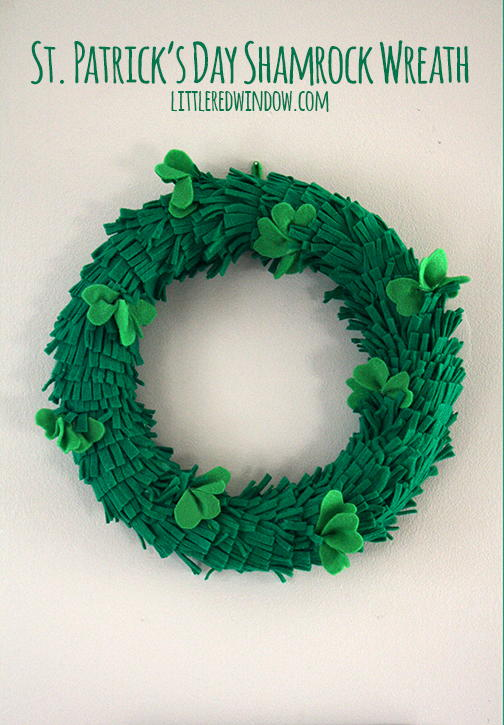 Felt Shamrock DIY Wreath