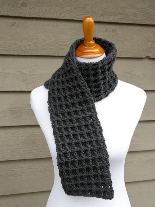 Waffle Stitch Crochet Charity Scarf Allfreecrochetcom