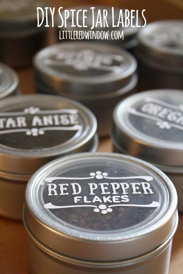 Magnetic Spice Jar Labels Favecrafts Com