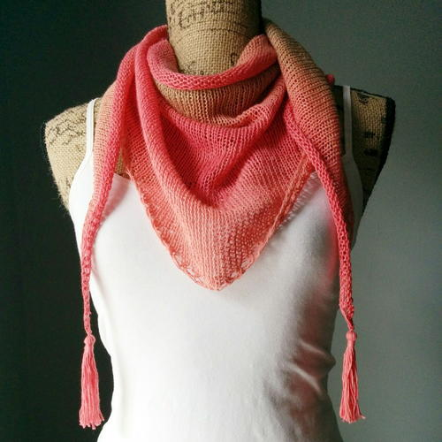 Strawberry Sunrise Shawlette