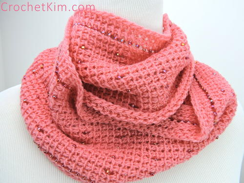 Pink Fantasy Infinity Scarf