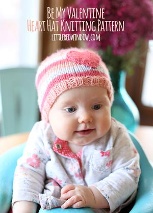 Precious Hearts Baby Hat Pattern