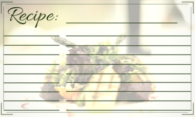 Elegant Recipe Card Template