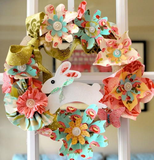 Easter Bouquet Wreath