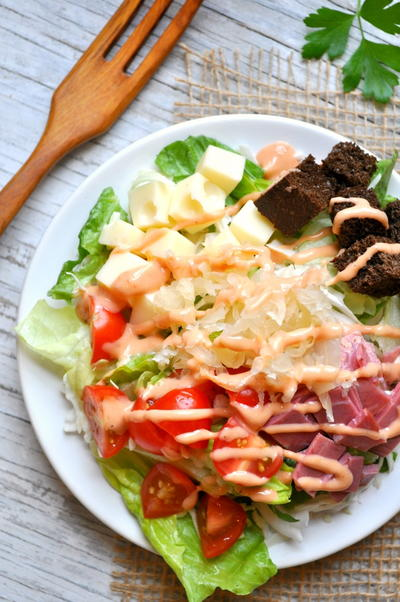 Skinny Girls Reuben Salad