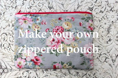 Super Quick Zippered Pouch