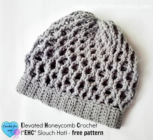 Elevated Honeycomb Crochet Slouch Hat
