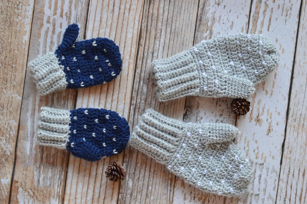 Snow Crochet Mittens Allfreecrochet Com