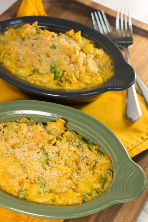 Tuna Pasta Bake for Two