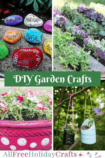 46 garden crafts diy planters flower pot crafts and for Homemade garden decor crafts