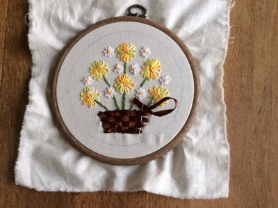 Handed embroidered flowers