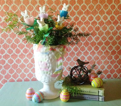 Make a 10 Minute Peeps Easter or Spring Centerpiece