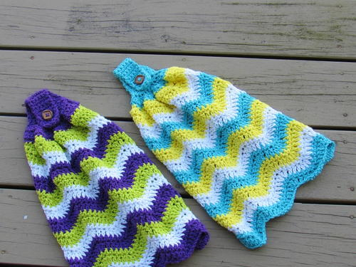 Chevron Crochet Kitchen Towel Allfreecrochetcom