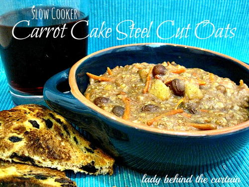Slow Cooker Carrot Cake Oatmeal