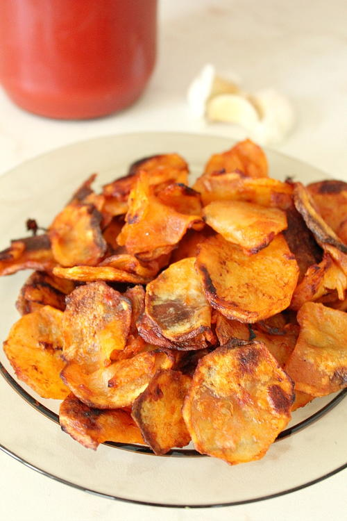 Homemade Garlic Vinegar Potato Chips