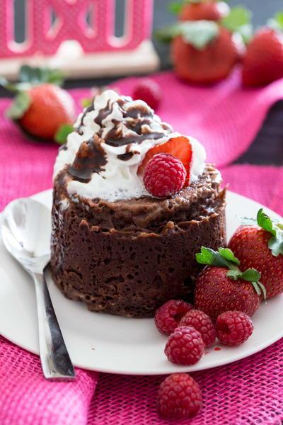 Molten Lava Protein Mug Cake | TheBestDessertRecipes.com