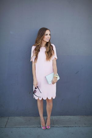Pink Blush Scalloped DIY Dress