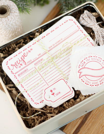 Lovely Letterpress Recipe Cards and Labels
