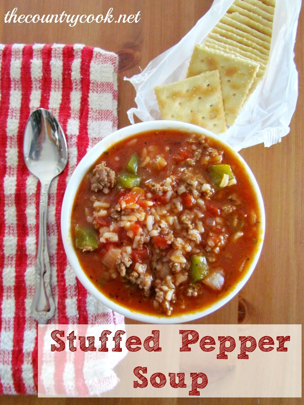 Lazy Stuffed Pepper Soup | FaveSouthernRecipes.com