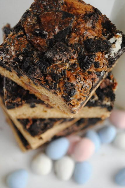 Oreo and Cadbury Egg Magic Bars