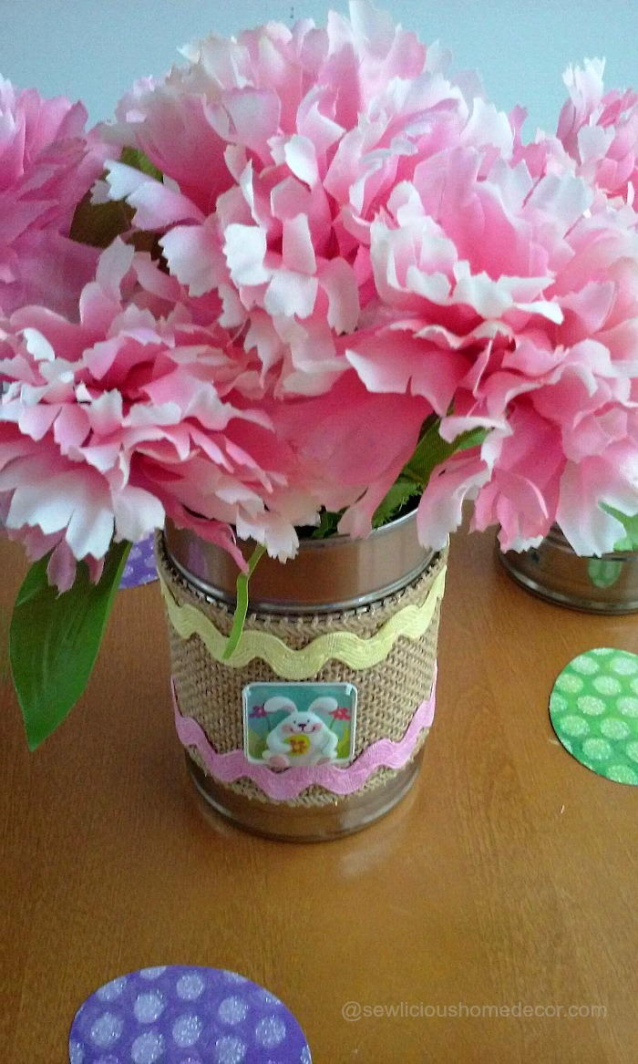 Easter tin can crafts for Large tin can crafts