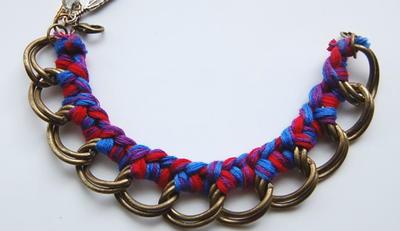Rainbow Chain Braided DIY Bracelet