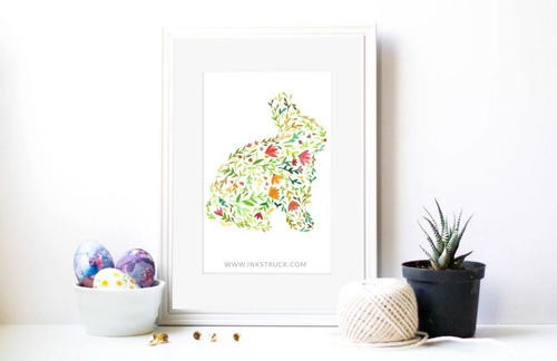 Bunny DIY Wall Art