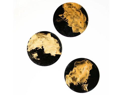 Black and Gold DIY Coasters