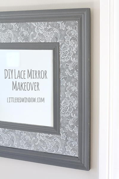 Lace Mirror DIY Wall Art