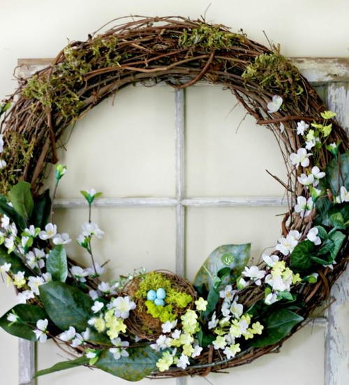 Robins Egg DIY Spring Wreath
