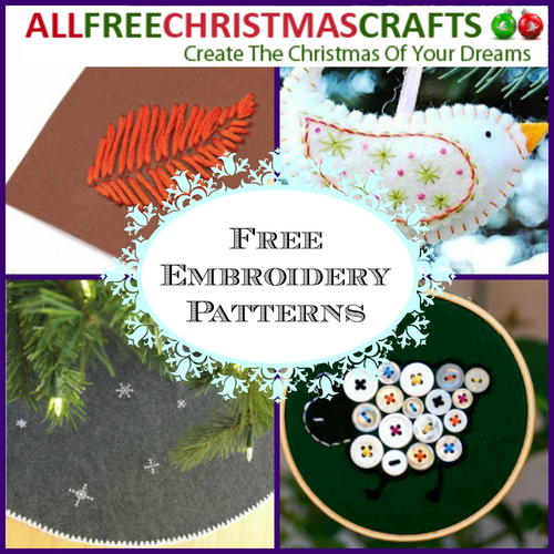 Free Embroidery Patterns: 8 Christmas Projects