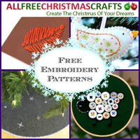 Free Embroidery Patterns: 10 Christmas Projects