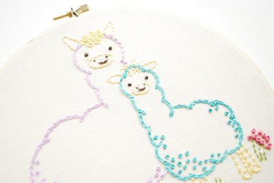 Llama Mama Printable Embroidery Patterns