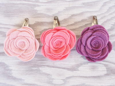 Spring Flower DIY Hair Barrettes