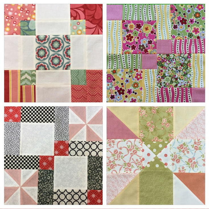 Disappearing 9 Patch Blocks 4 Variations Video