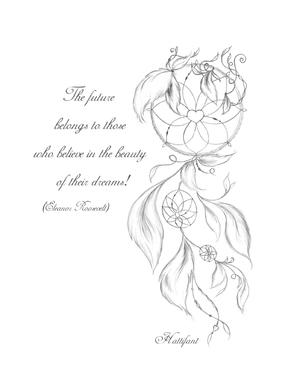 picture about Dream Catcher Printable identified as Dreamcatcher Printable Coloring Web page