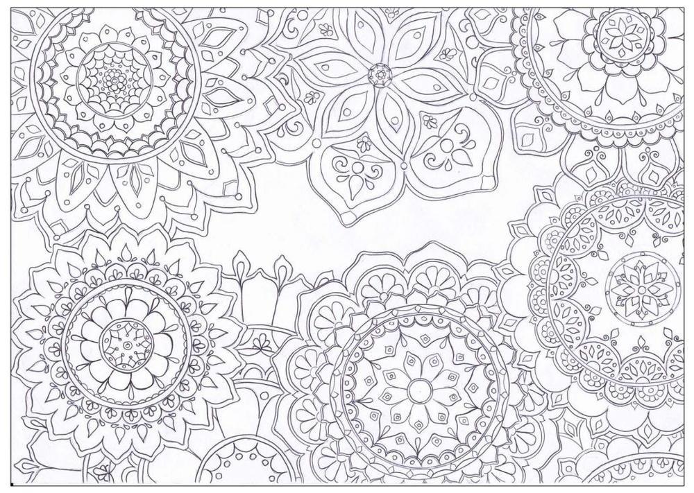 Mandala Flowers Coloring Page
