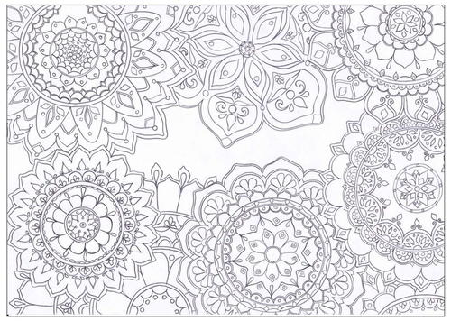 Mandala Flowers Coloring Page