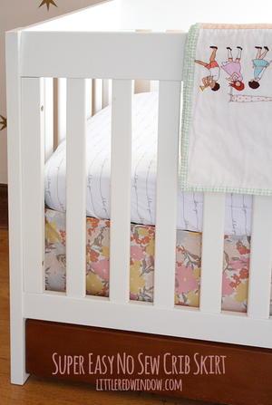 No Sew Diy Crib Skirt Favecrafts Com