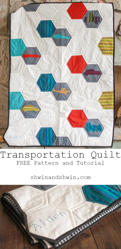 Transportation Hexagon Pattern Quilt