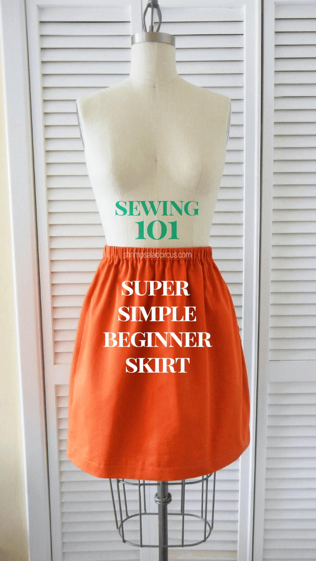 Super Simple Diy Skirt Allfreesewing Com