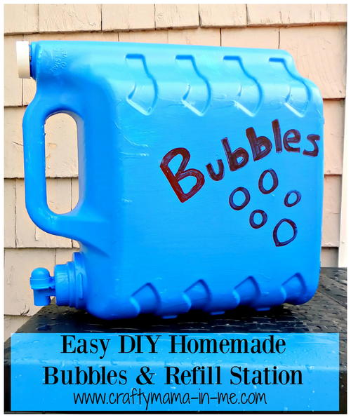 Easy DIY Homemade Bubbles Refill Station