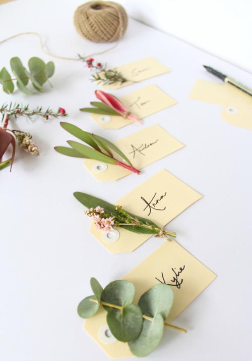 Native Flora Placecards