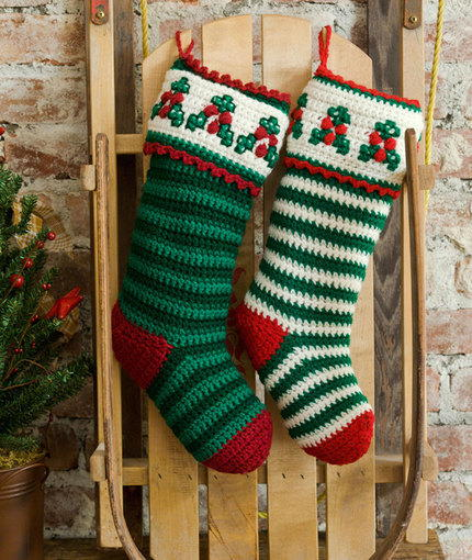 Holiday Holly Christmas Stockings
