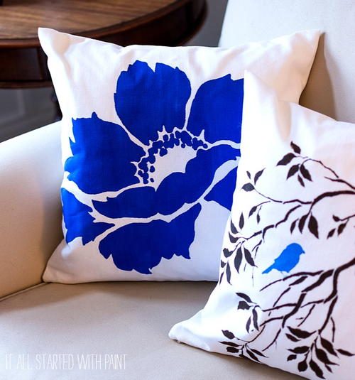 DIY Painted Pillow Patterns