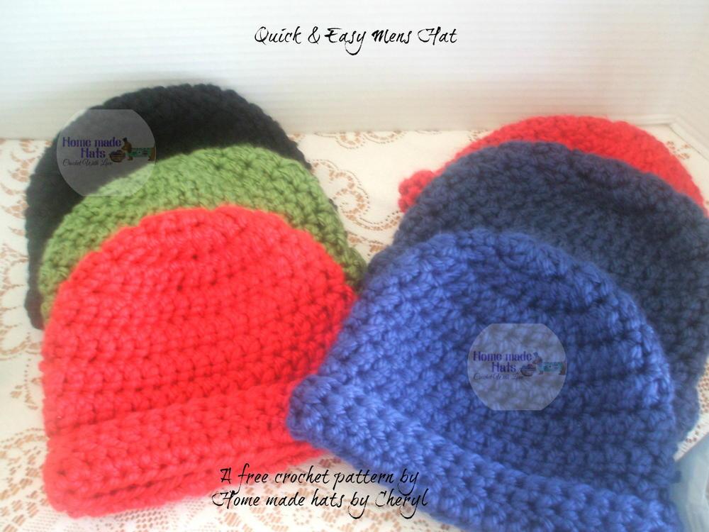 Quick Easy Mens Hat Allfreecrochet