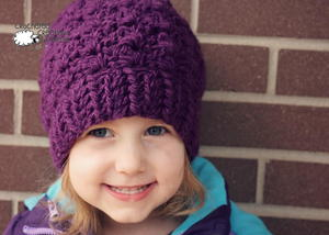 Berry Delight Free Crochet Beanie Pattern