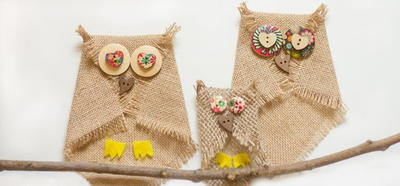 Adorable Burlap Owl Craft