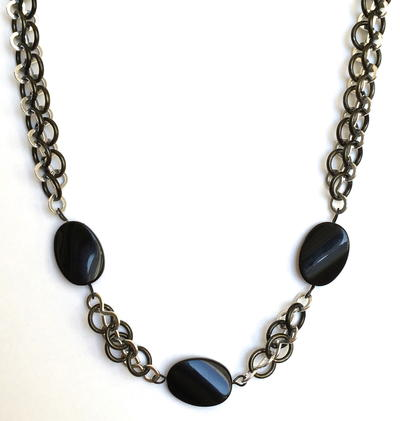 Crazy Eight Ebony Necklace