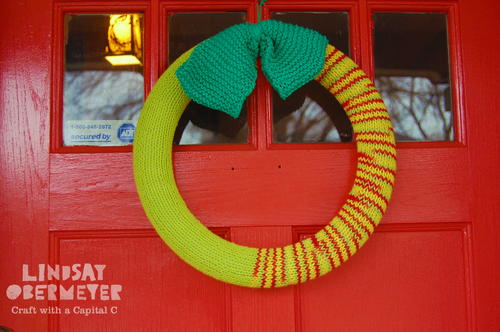 Knitted Welcome Wreath